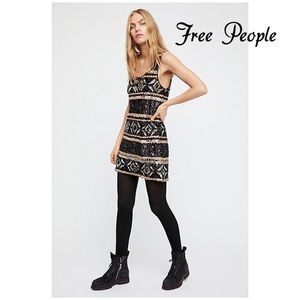 Free People Sequin Tank Dress